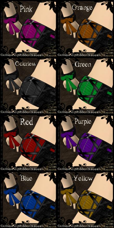 Gothique Zip RibbonBracelets