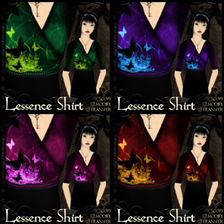 Lessence Shirts - Candy, Fire, Forest, Ocean