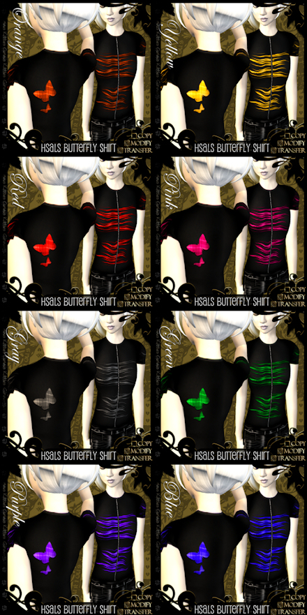 Hsals Butterfly Shirts