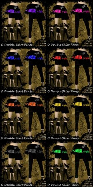 O Double Skirt Pants