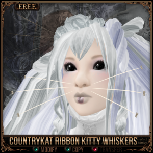 [FREE] CountryKat Ribbon Kitty Whiskers