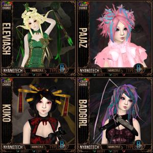 Curious Kitties Hair - Eleviash, Pajaz, Kuko, Badgirl