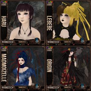 Curious Kitties Hair - Haru, Lebebe,Madmoizelle, Origin