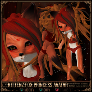 Kittenz Fox Princess Avatar
