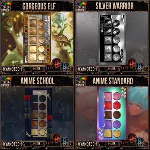 Nyanotech HUDS - Gorgeous Elf, Silver Warrior, Anime School..