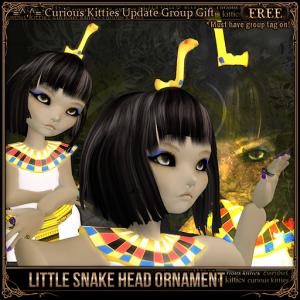 [FREE] Little Snake Head Ornament