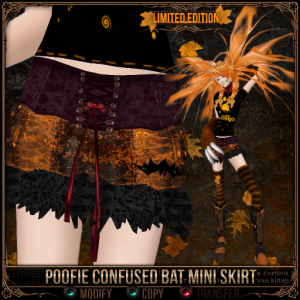 Poofie Confused Bat Mini Skirt