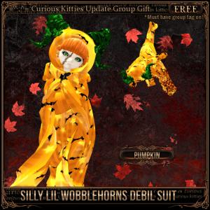 Silly Lil Wobblehorns Debil Suit - Pumpkin