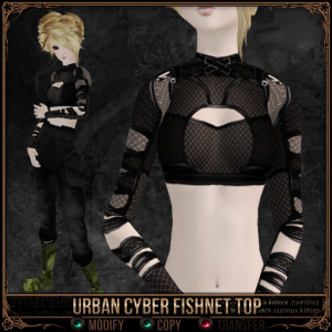 Urban Cyber Fishnet Top