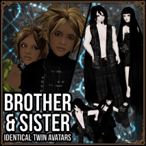 BROTHER and SISTER - Identical Twin Avatars