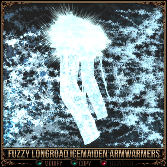 Fuzzy Longroad Icemaiden Armwarmers