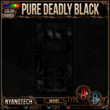 Nyanotech HUD [Type A+B] - Pure Deadly Black