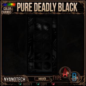 Nyanotech HUD [Type A+B] - Pure Deadly Black