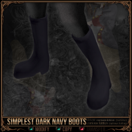 Simplest Dark Navy Boots