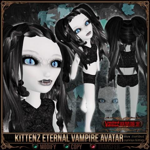 Curious Kitties Unreal Fuzz Kittenz Eternal Vampire Avatar
