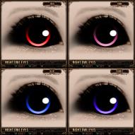 Night Owl Eyes - Red, Pink, Blue, Purple