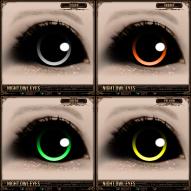 Night Owl Eyes - Silver, Orange, Green, Yellow
