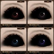 Time Denies Eyes - Red, Pink, Blue, Purple