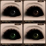 Time Denies Eyes - Silver, Orange, Green, Yellow