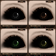 Time Denies Eyes - Silver, Orange, Green, Yellow