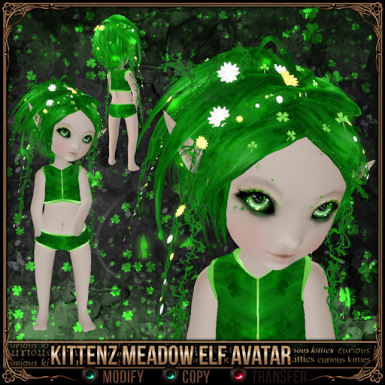 Kittenz Meadow Elf Avatar
