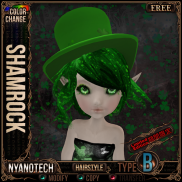 Nyanotech Hair [Type B] - Shamrock V3