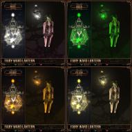 Fairy Ward Lantern - White, Orange, Green, Yellow