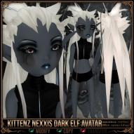 Kittenz Nexxis Dark Elf Avatar