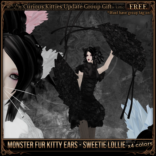 Free Monster Fur Kitty Ears - Sweetie Lollie