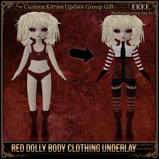 Red Dolly Body Clothing Underlay