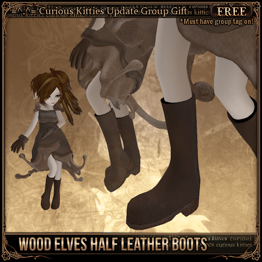 Wood Elves Half Leather Boots