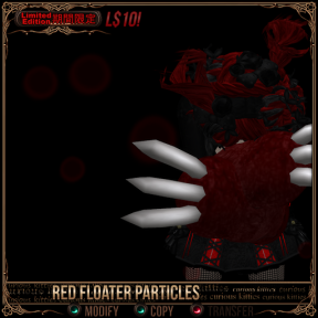 red floater particles