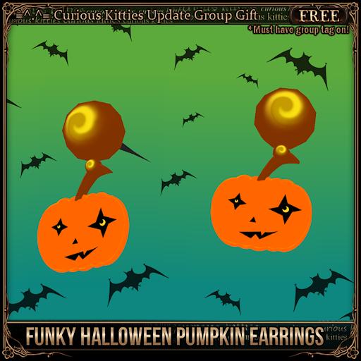 [Free] Funky Halloween Pumpkin Earrings