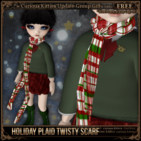 [FREE] Holiday Plaid Twisty Scarf